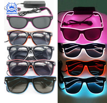 Hot Sale EL Light Up Sunglasses LED Glasses For Promotional Events And Party Supplies