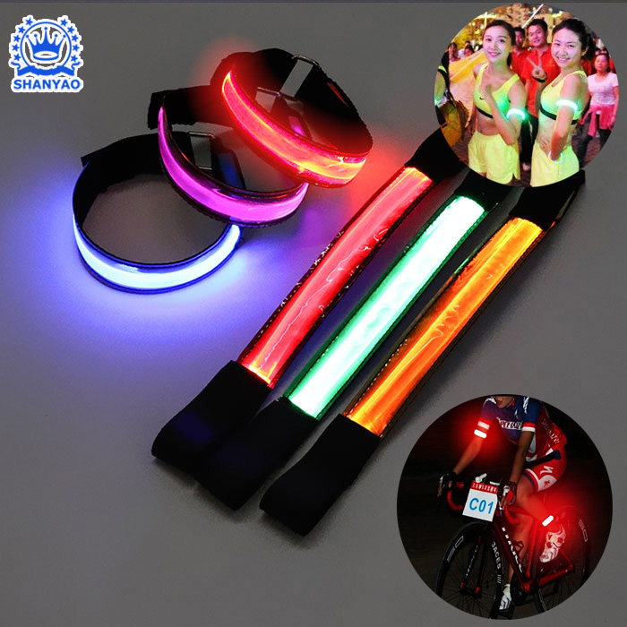 LED High Reflective Armband Hot Sale for Cycling Running etc Outdoor Sports Usage at Night