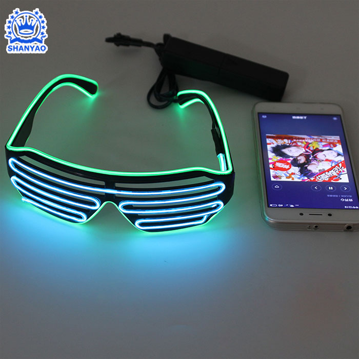 New Voice-activated Shutter Shades Glasses For Festival Celebrations Rave Concert etc