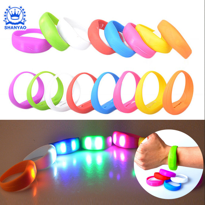 Hot Sale Promotional Gift Voice-activated or Vibration-controlled LED Bracelet for Rave Party/Concert etc
