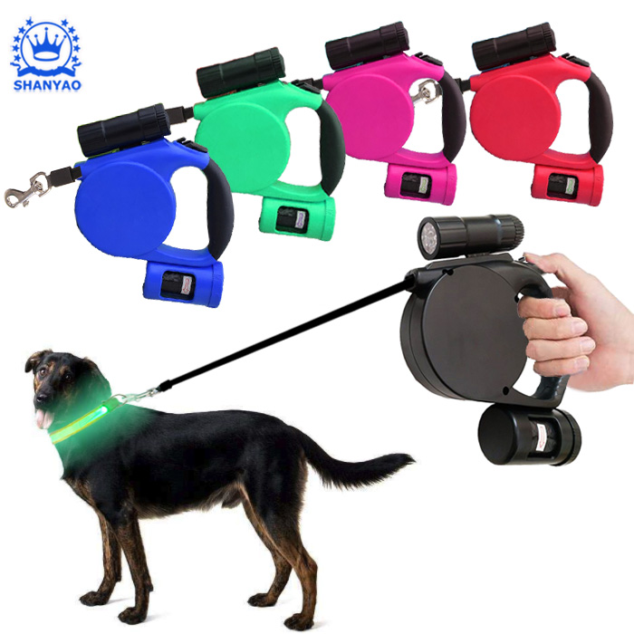 Hot Sale Retractable LED Dog Leash Pet Leash for Safety Walking Dog Cat etc Pets