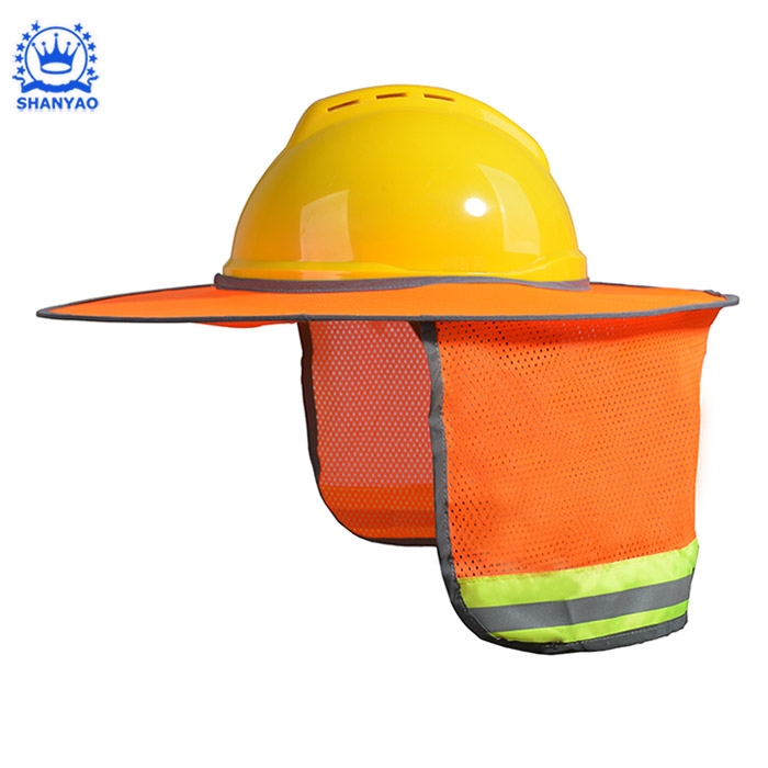 Hot Sale High Reflective Breathable Worker Helmet Hard Hat Sun Shade for Protect Worker Feel Cool