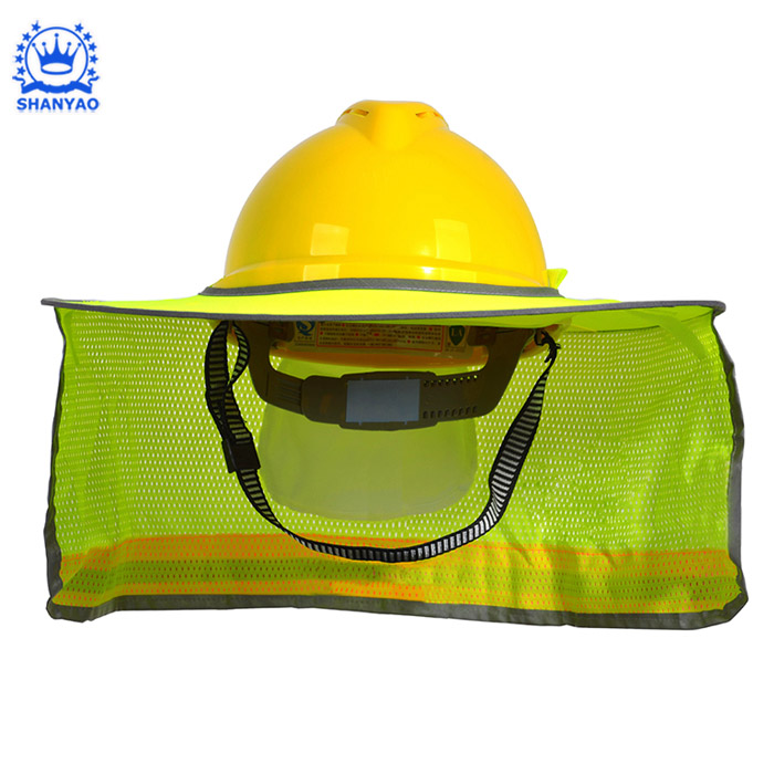 Hot Selling High Reflective Breathable Worker Helmet Hard Hat Sun Shade for Protect Worker Feel Cool
