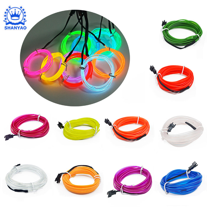 Hot Sale EL Wire Light Strip for Sew Onto And Decorating Other Items such as Handbag Vest Coat etc